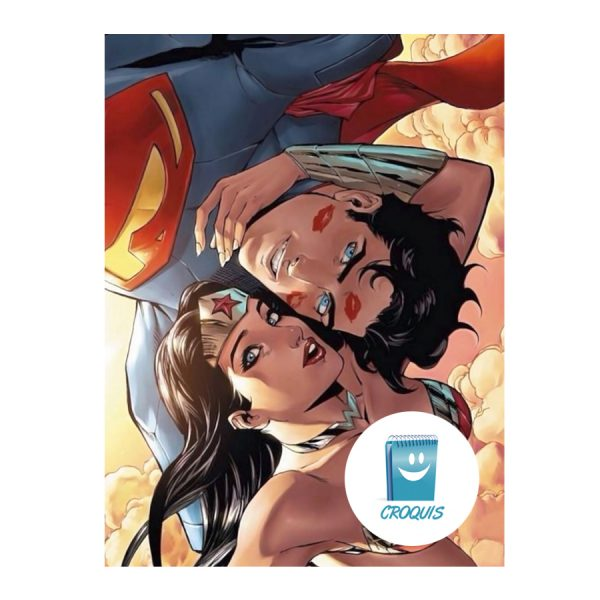 poster superman y mujer maravilla, poster chile, arte digital chile, croquis