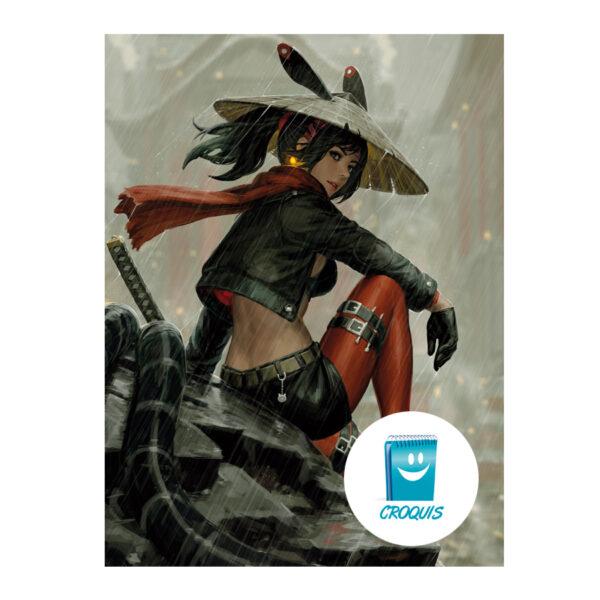 descargar poster, poster chile, descargar grafica, descargar poster samurai girl, croquis chile, arte y publicidad chile, arte digital chile